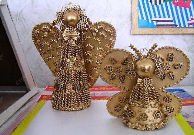 Ангелочки из макарон своими руками мастер класс 76