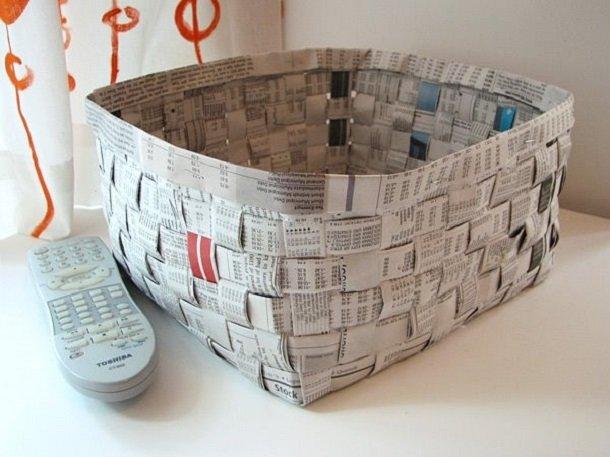 Поделки своими руками из газет и бумаги своими руками