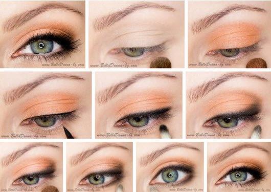 Естественный макияж серо зеленых глаз