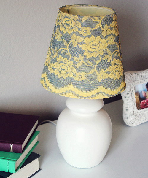 Абажур своими руками для настольной лампы фото