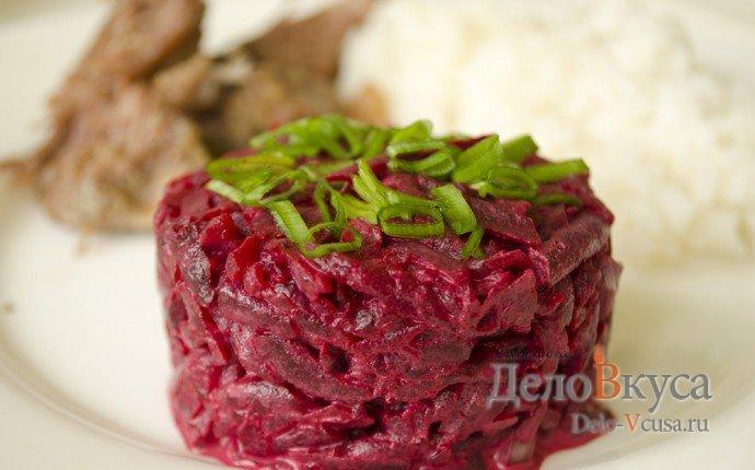 Рецепты салата из вареной свеклы с