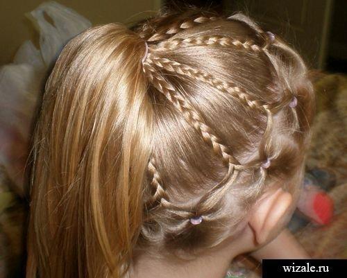 Прически на длинные волосы для девочек с