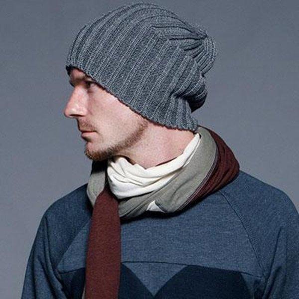 вязанные мужские шапки спицы