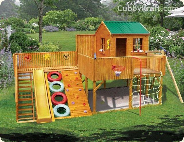 Сделать площадку для детей на даче своими руками 39