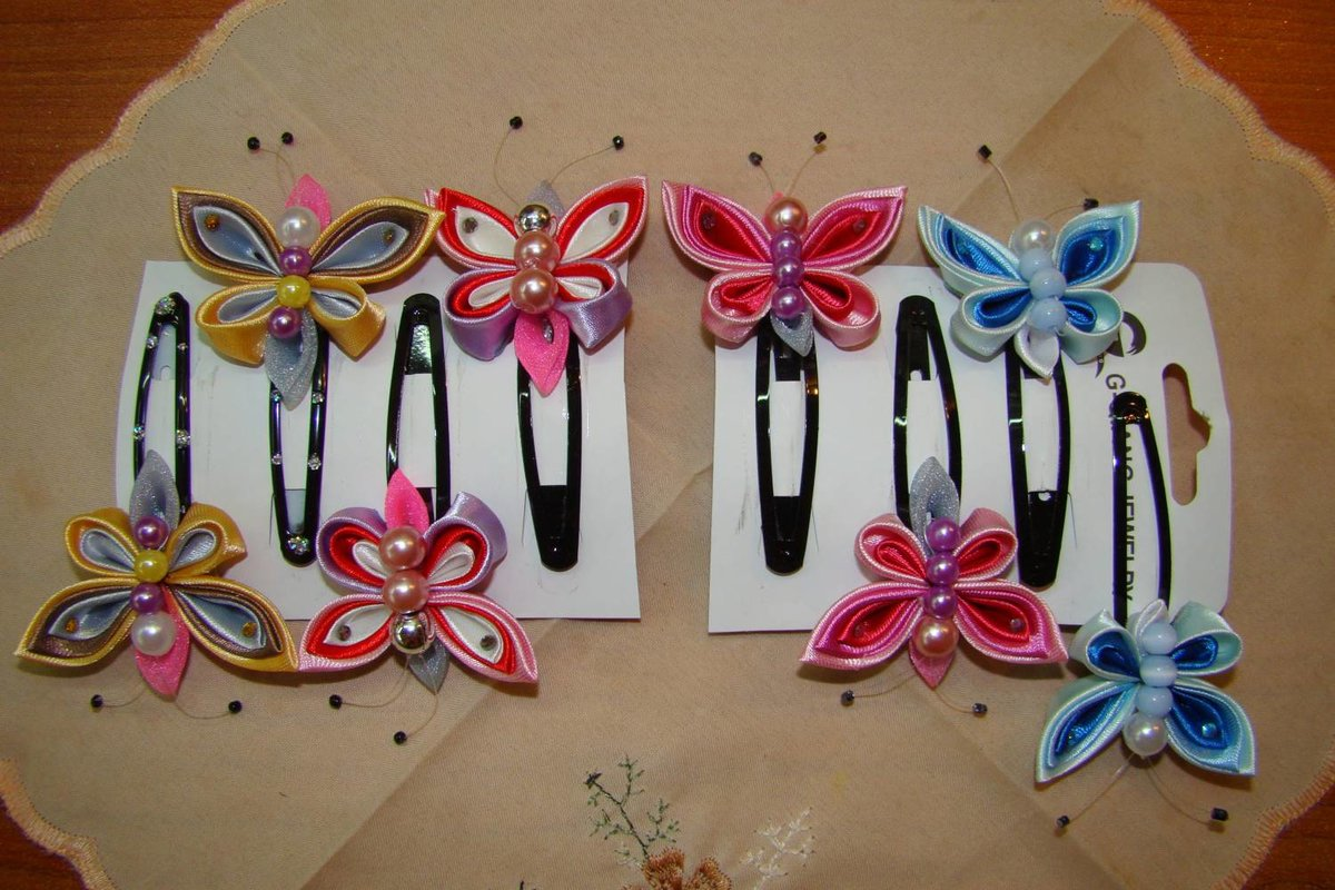 Резинки своими руками в стиле канзаши 40