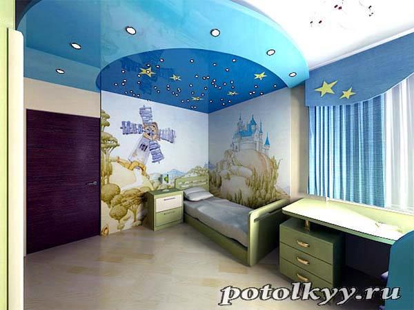 Потолки из гипсокартона в детскую комнату