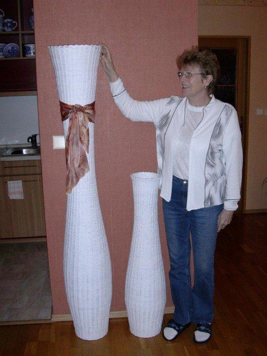 Большие вазы своими руками из бумаги