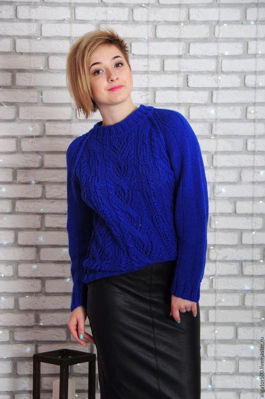 Свитер женский вязание 48-50 размер