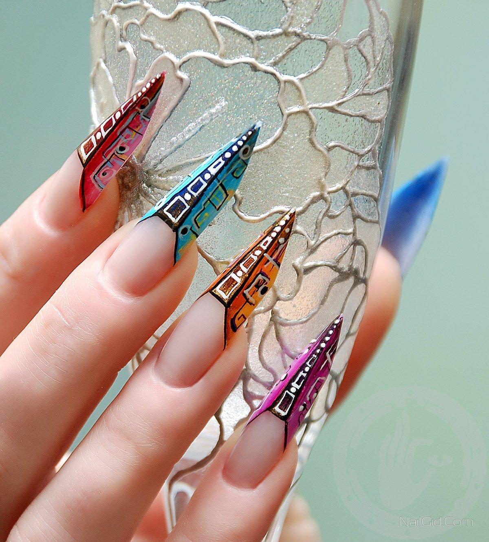 Дизайны ногтей фото форма пайп