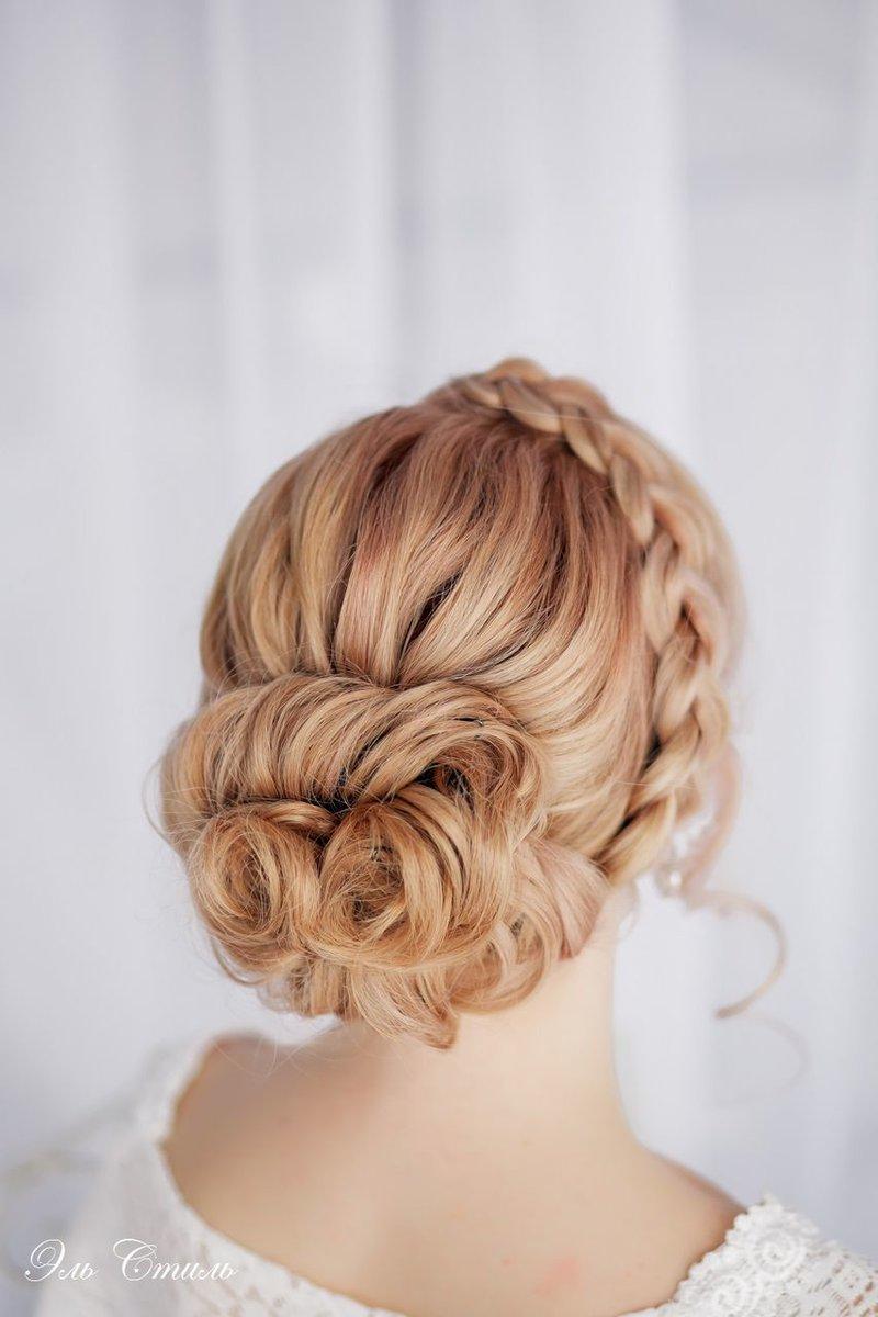 Прическа с косами на свадьбу на длинные волосы фото