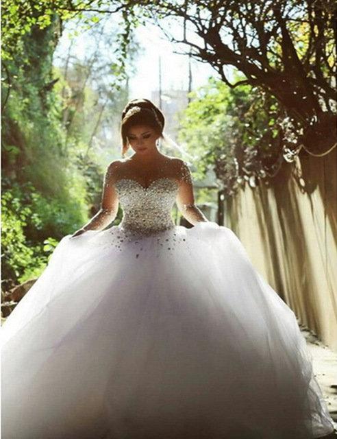 Очень пышное свадебные платья