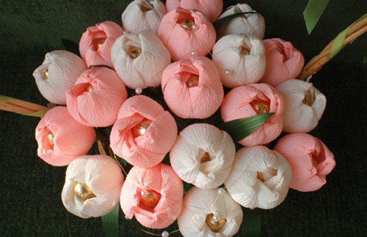 Фото букетов тюльпаны своими руками