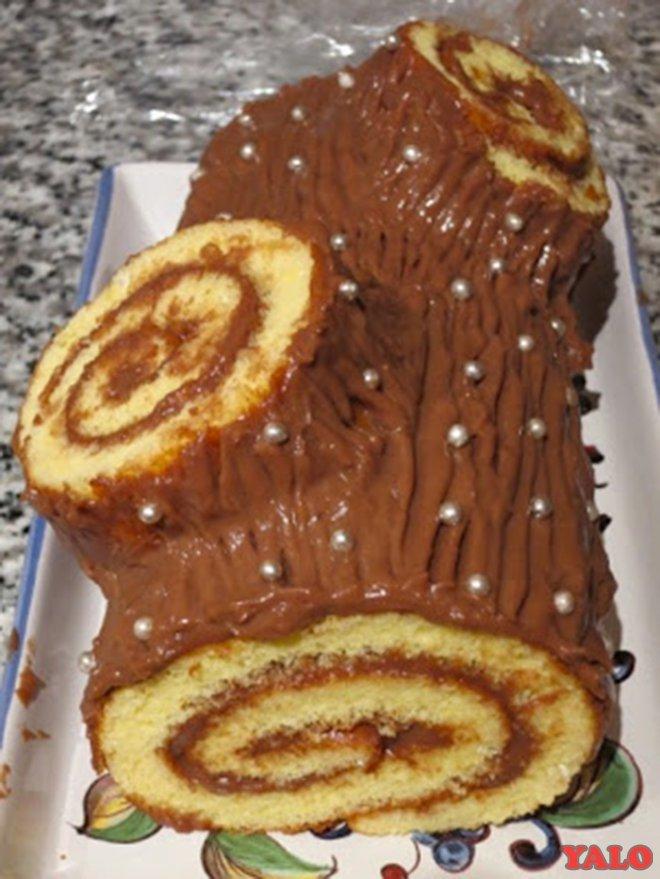 Торт полено в домашних условиях 857