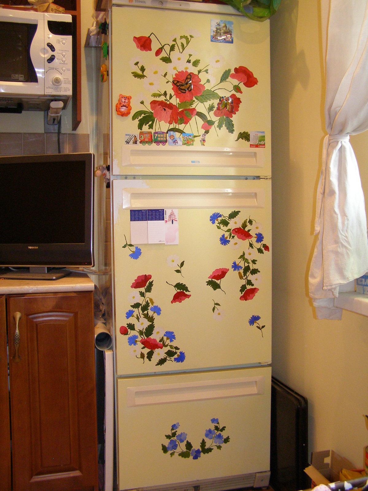 Декупаж старого холодильника своими руками как сделать