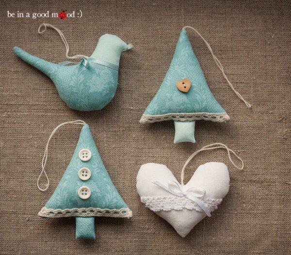 Игрушки новогодние из ткани