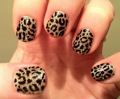 Леопардовый маникюр гель фото