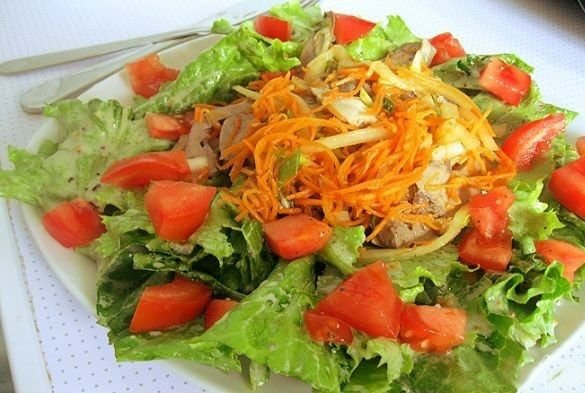 Салат и салат из сердца свиного рецепт с