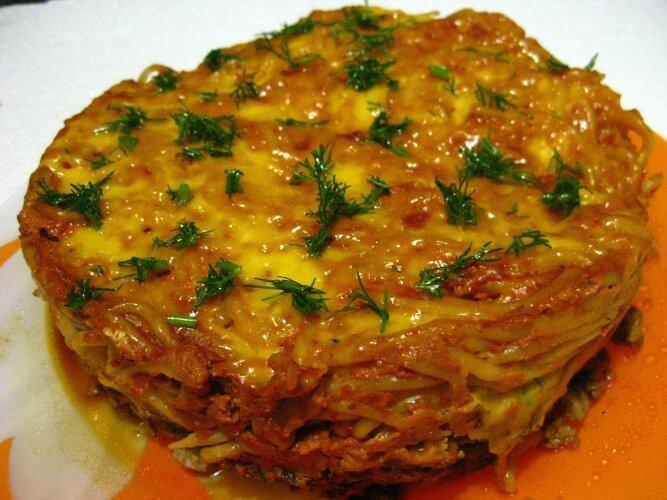 Запеканка мясная с макаронами в мультиварке рецепты с фото