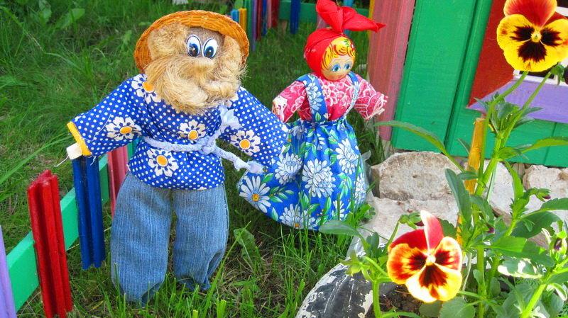 Садовые куклы своими руками фото 3