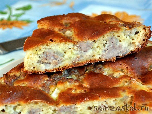 Рецепты пирогов мясом