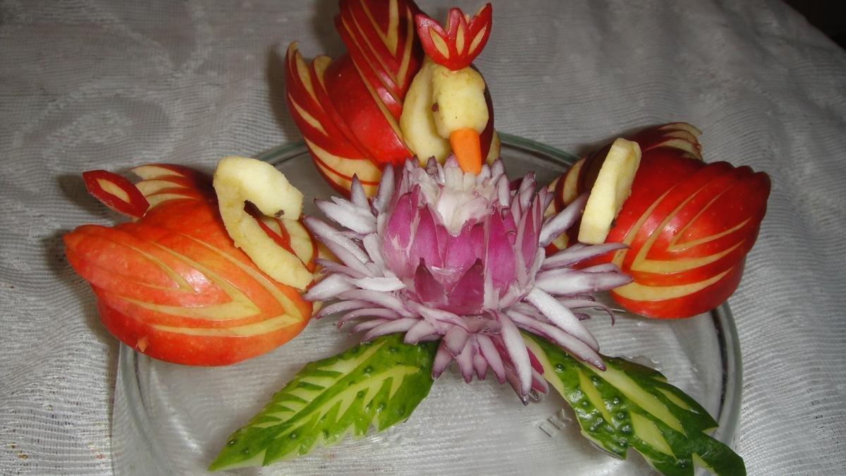 Украшение из овощей своими руками поделки 48