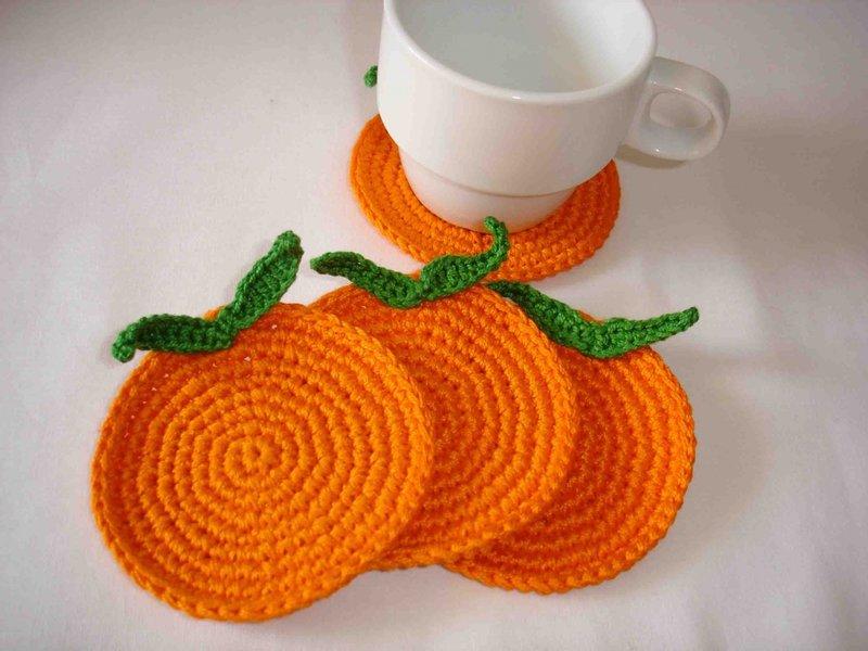 Вязание крючком подставка для чашки