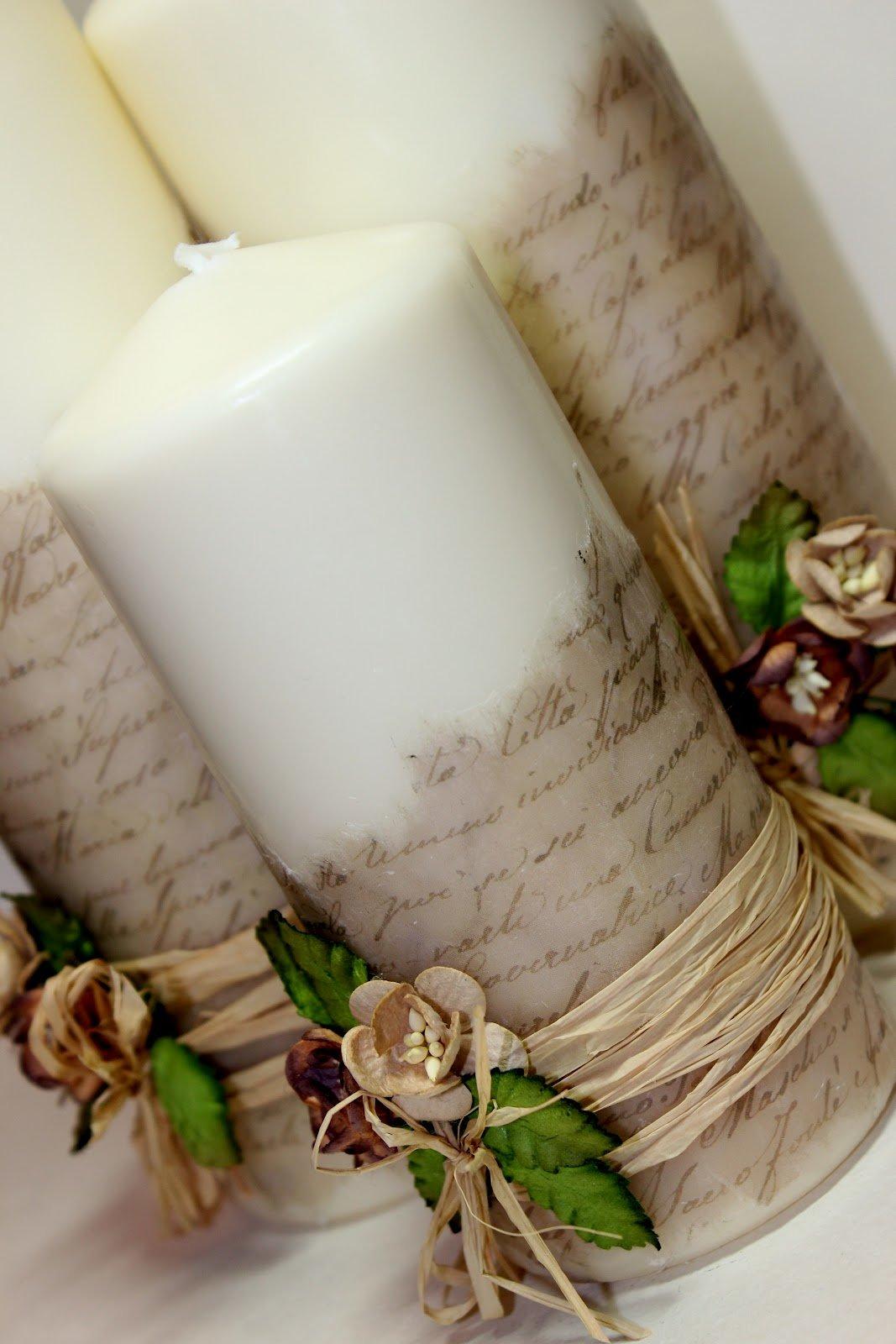 Декор свечей своими руками 75 фото примеров