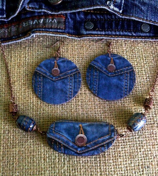 Аксессуары своими руками из джинс