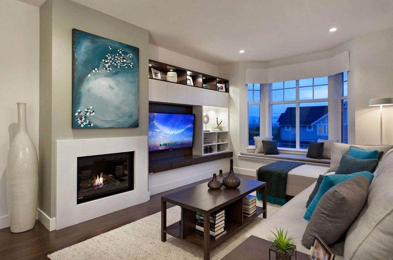 Дизайн стен маленькой гостиной