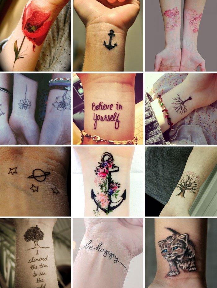 Фото татуировок на запястье женские