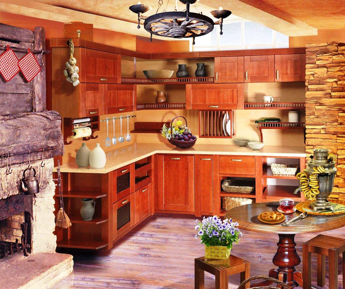 Отделка кухни в частном доме: подходящий дизайн и материалы 89