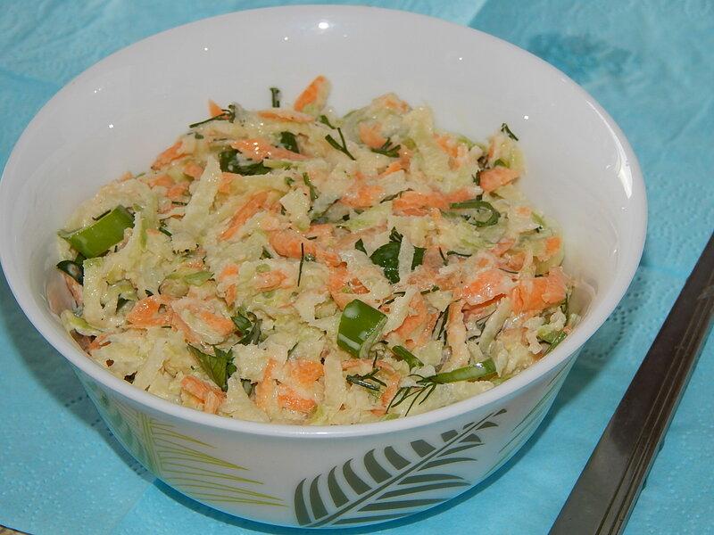 Как приготовить салата с редькой