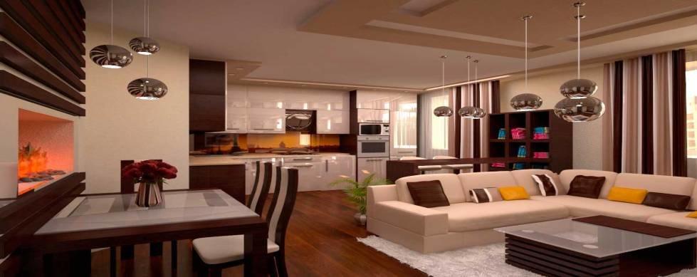 Как из зала сделать кухню и гостиную