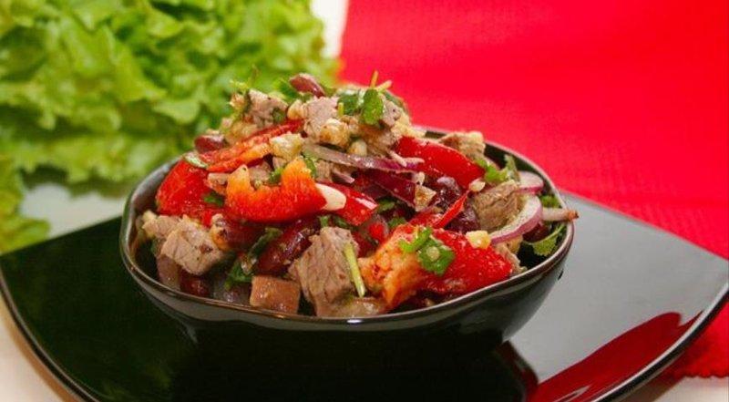 Рецепт салат с говядиной и фасолью с фото