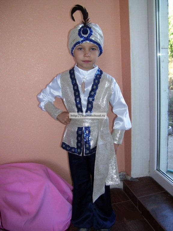 Как сделать новогодний костюм для мальчика своими руками быстро