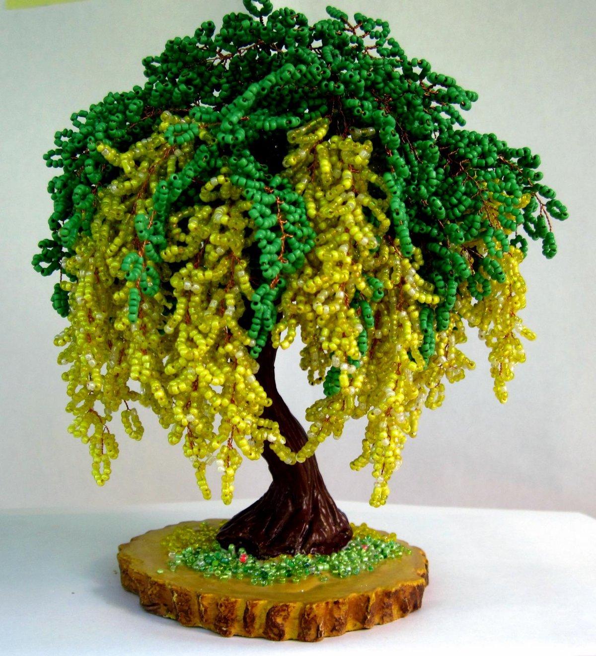 Видео уроки плетенье деревьев из бисера