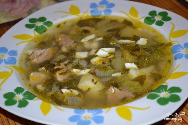Борщ щавелевый рецепт с пошагово в