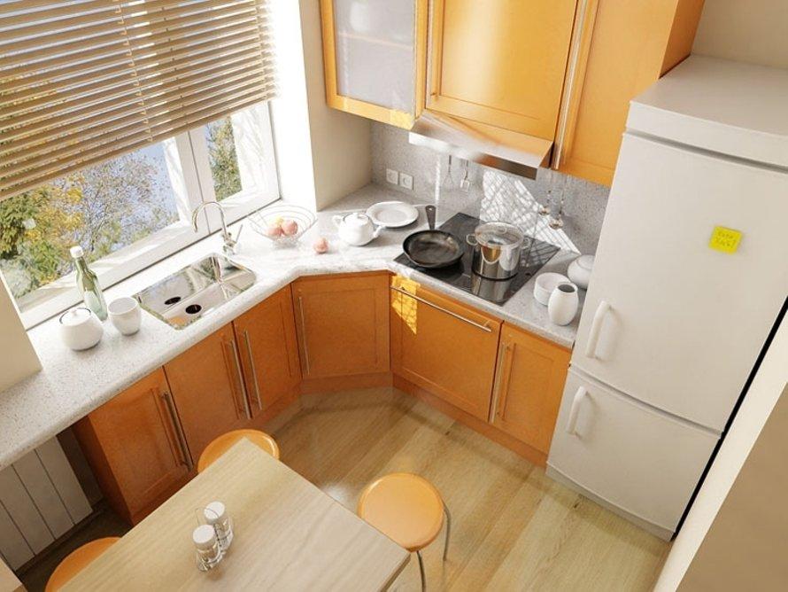 Дизайн кухни 6 квм с газовой колонкой