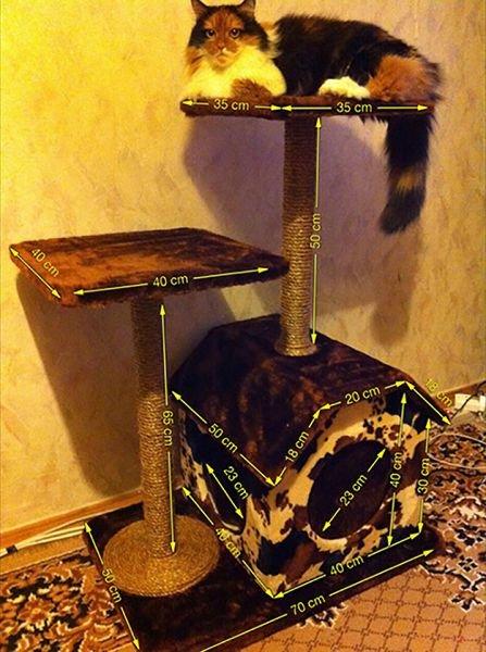Домик для кошки своими руками пошаговая инструкция фото