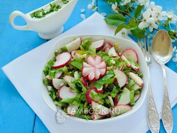 Салат с черемшой и яйцом рецепт с