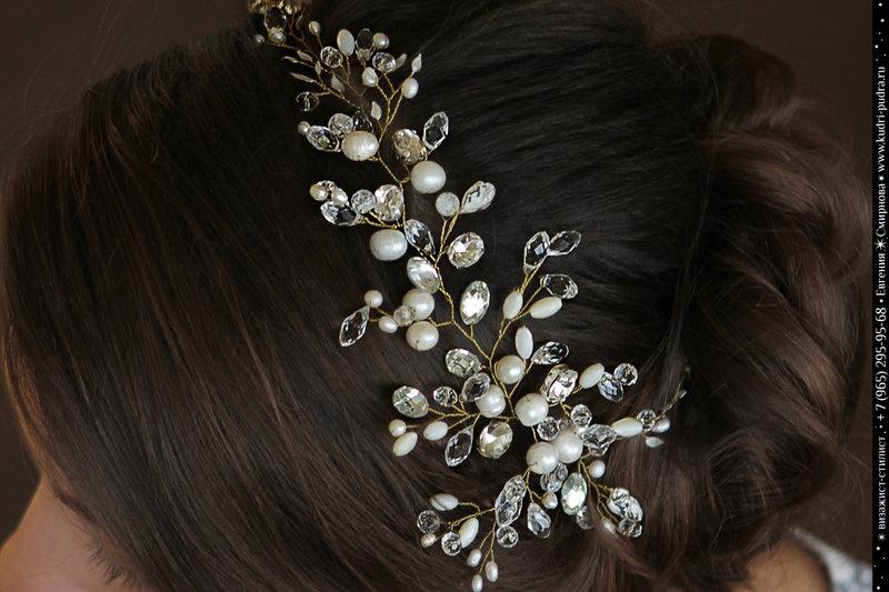Украшения на волосы свадебные своими руками