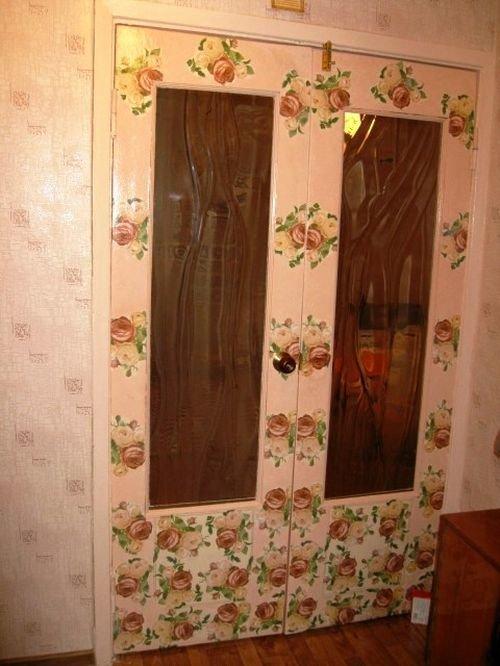 Как оформить двери старые своими руками 76