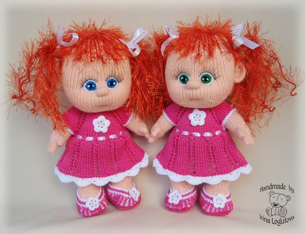 Мк вязание куклы спицами 464