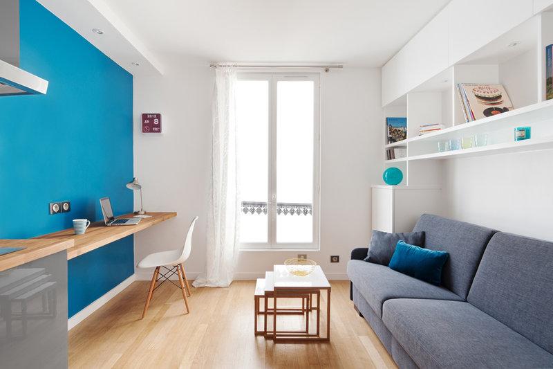 Интерьер квартиры-студии 15 кв м фото