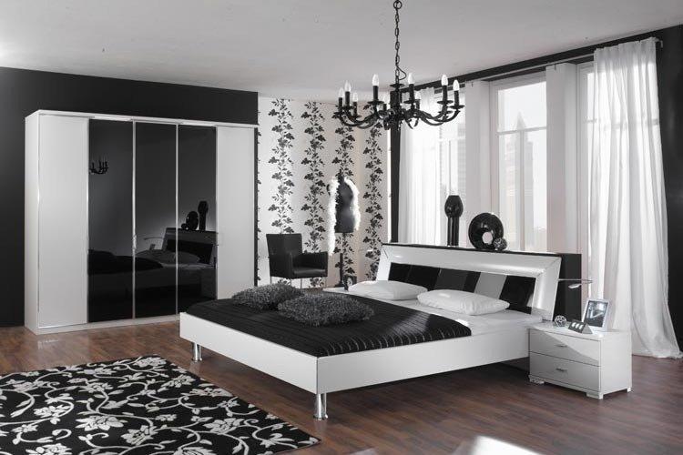 Спальня дизайн фото черно белая