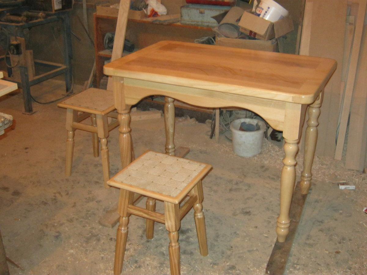 Самодельный кухонный стол из дерева своими руками 89