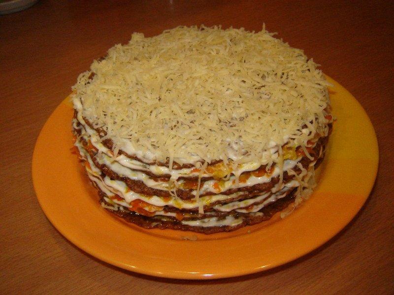 Рецепты торт с печени фото
