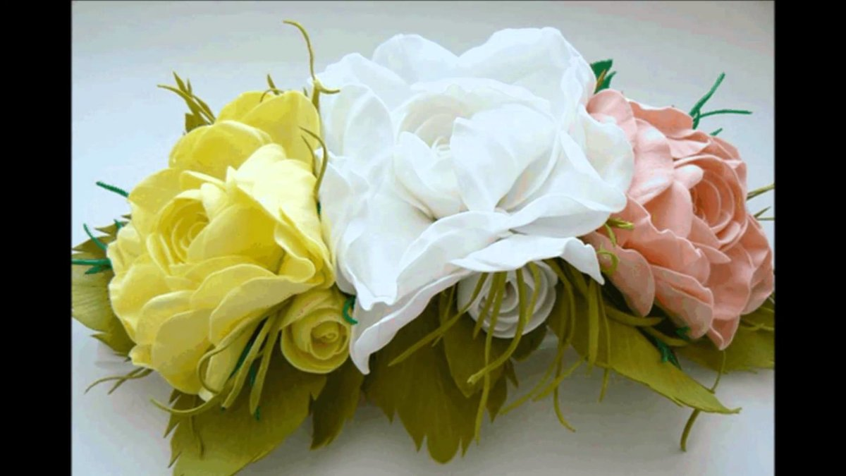 Прекрасные цветы своими руками 140