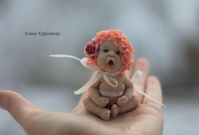 Кукла из полимерная глина