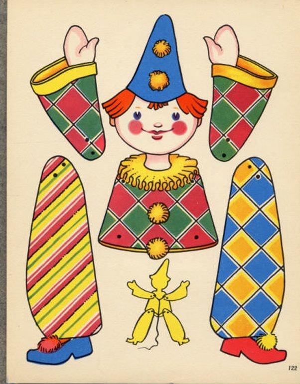 Игрушки из бумаги своими руками марионетки 27